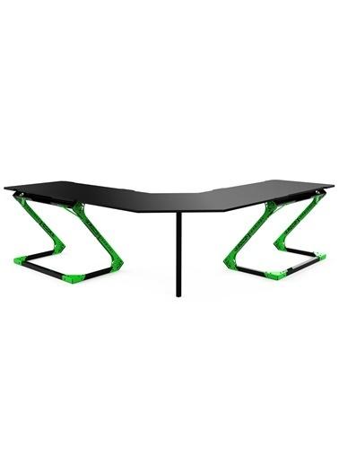 Xrocg Gaming Gator L-464 Yeşil-Siyah Oyuncu Masası Siyah